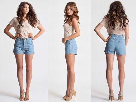 High Waisted Shorts Jean