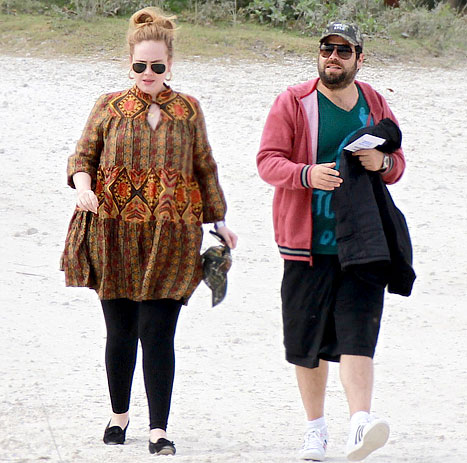 Adele wears Tights (Super Skinny Jeans )
