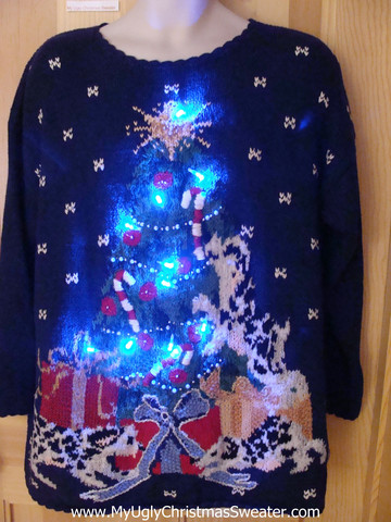 Christmas sweater that lights up