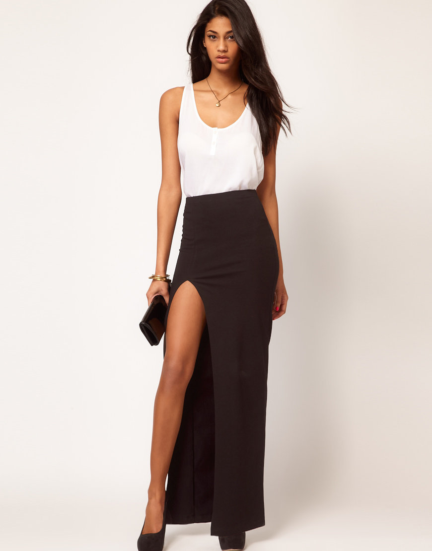 Maxi skirt long back short front dress