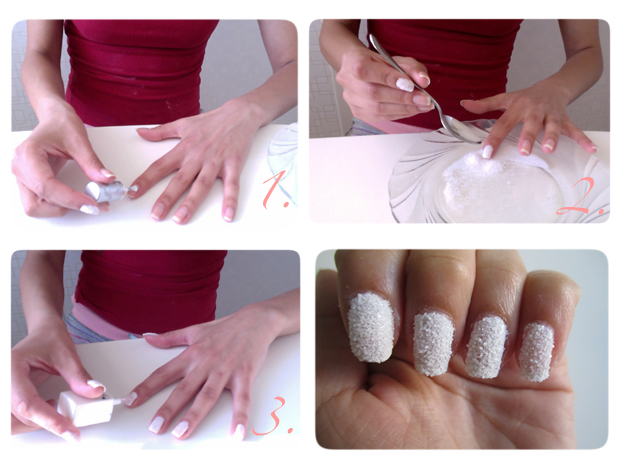 Diy Series Crystallized Nail Art With Salt The Fashion Foot