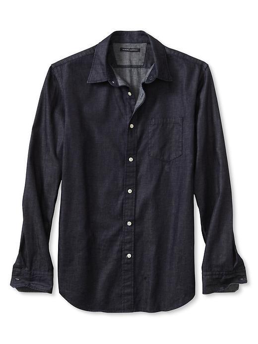 What to wear with dark denim shirt?