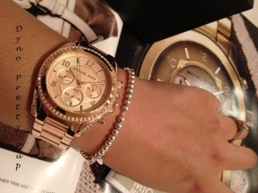 Michael Kors Rose Gold Watch Dyno 8