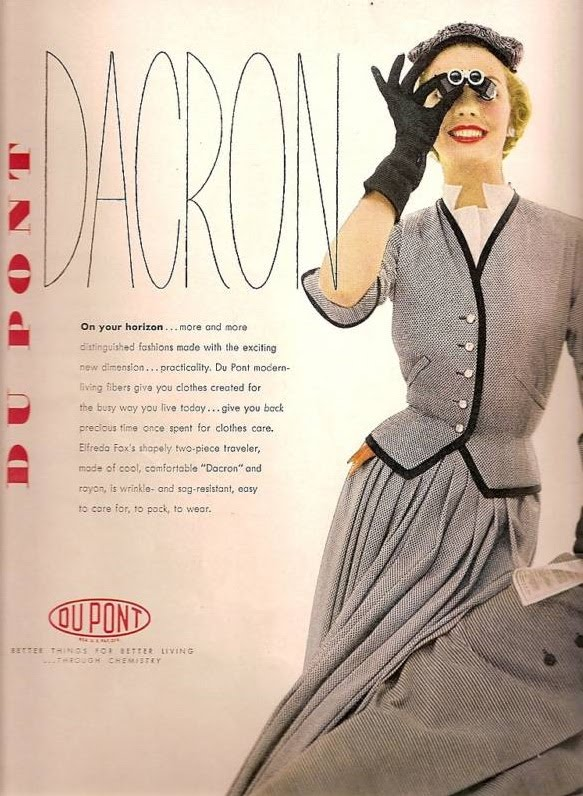 Dacron: The Durable Fabric   The Fashion Foot Dacron 1954