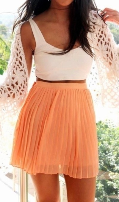 Crop Tops with High-Waisted Skirts | The Fashion Foot