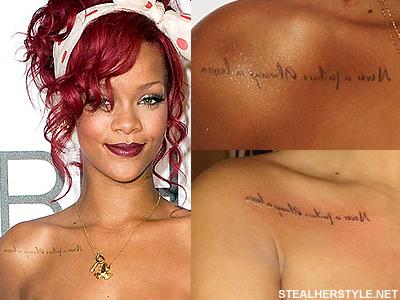 Rihanna Tattoos Meaning