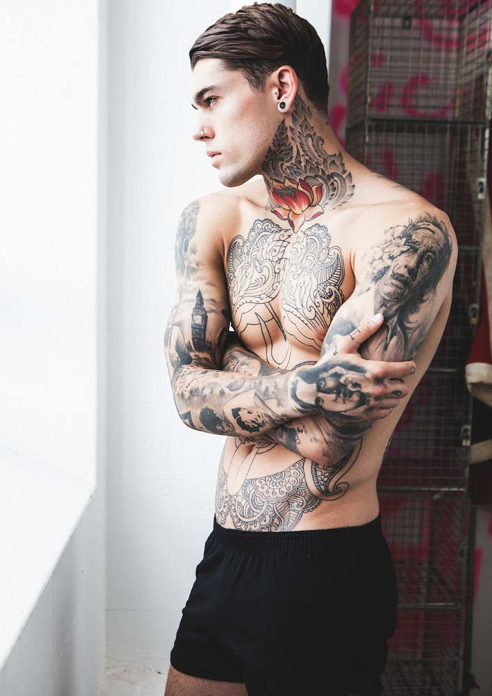 Tattooed Male Models In Fashion | The Fashion Foot