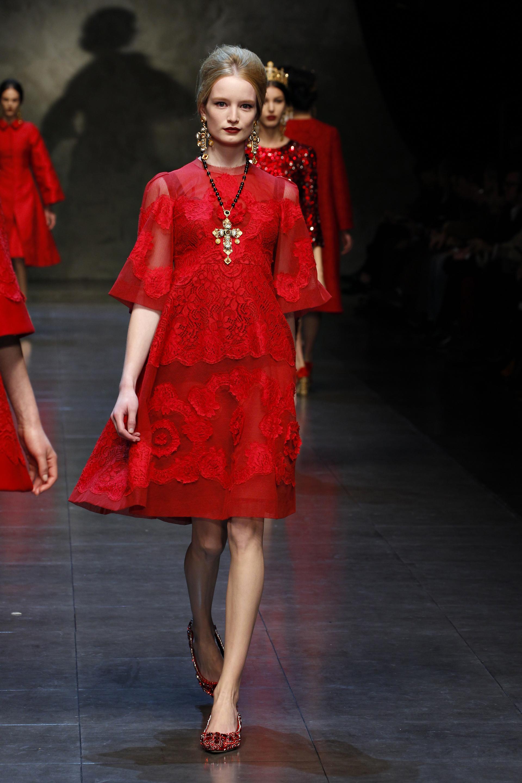 Dolce And Gabbana Red Dress - RP Dress