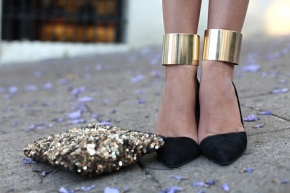 gold-ankle-cuffs-black-heels
