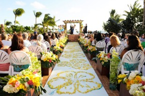 2014-summer-wedding-ideas-with-bright-flowers-down-the-aisle-decoration