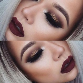Image result for fall inspired eye makeup
