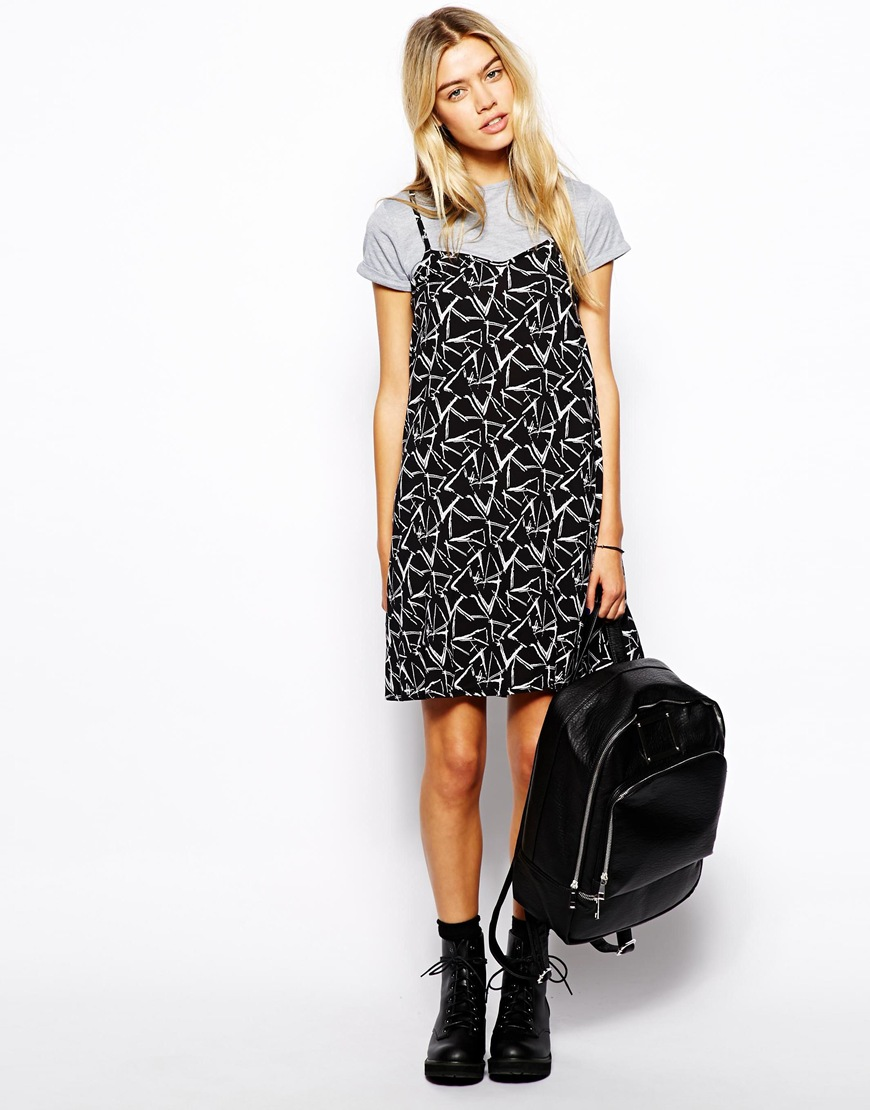 T shirt under dress - Similar To The Concept Of Overalls You Can Practically Wear Any Shirt Inside A Dress