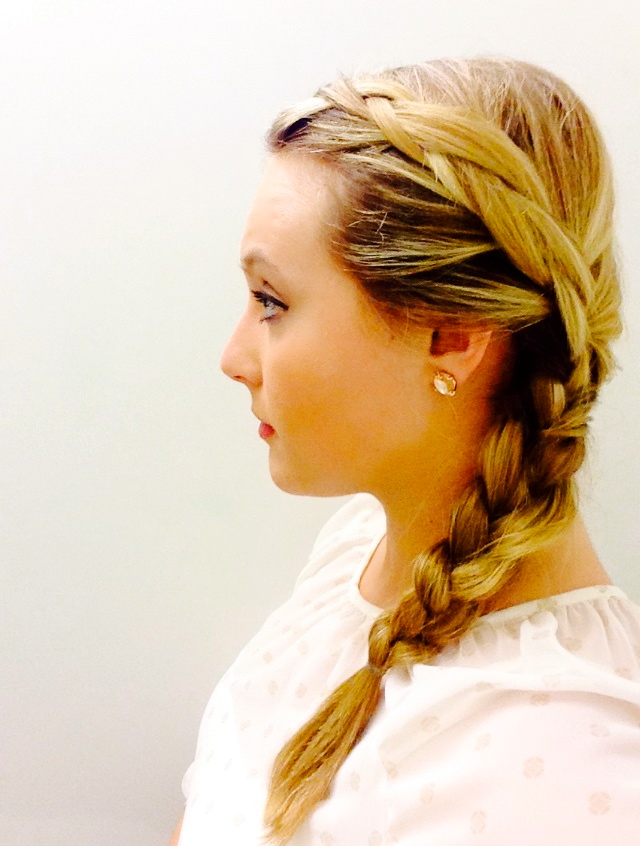 So If Youre Having Trouble With Your Hair Or Want To Add A Little Something Style Side Braid Is Easy Do