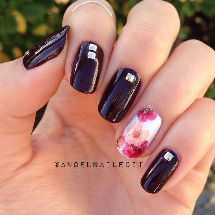 Dried flower nail art the fashion foot 4 8 prinsesfo Choice Image