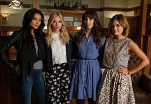 "PRETTY LITTLE LIARS - ""Charlotte's Web"" - The Liars start to look at one of their own as questions arise regarding the new mystery in ""Charlotte's Web,"" an all-new episode of ABC Family's hit original series ""Pretty Little Liars,"" airing Tuesday, January 19th (8:00 – 9:00 PM ET/PT). ABC Family is becoming Freeform on January 12, 2016. (ABC Family/Eric McCandless) SHAY MITCHELL, ASHLEY BENSON, TROIAN BELLISARIO, LUCY HALE"